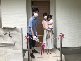 テープカットの様子です! 本宮市仁井田T様| 郡山市 新築住宅 大原工務店のブログ
