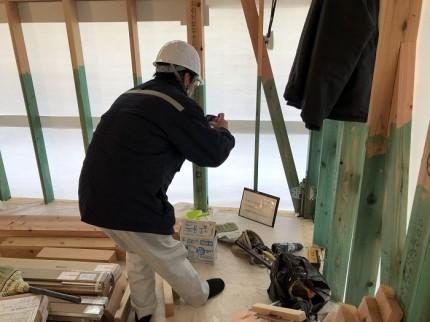 住宅センターさんによる金物チェックです 郡山市小原田 | 郡山市 新築住宅 大原工務店のブログ