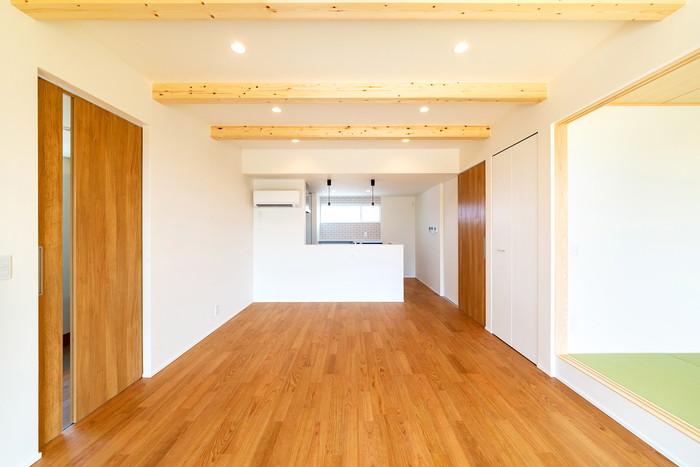 オシャレなM様邸リビングの様子です。須賀川市森宿  郡山市 新築住宅 大原工務店のブログ