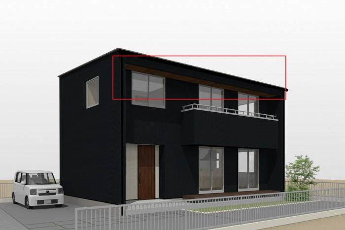 軒天はこちらです。|郡山市 新築住宅 大原工務店のブログ
