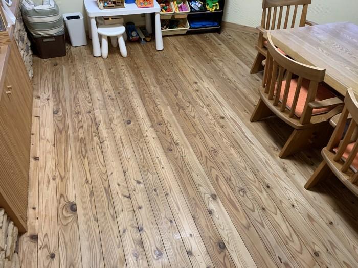 ワックスをかけおわった床です。郡山市安積町| 郡山市 新築住宅 大原工務店のブログ