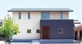 シンプルな切妻屋根で北側ファザードをデザインする注文住宅~外観~|郡山市 注文住宅 大原工務店 施工例