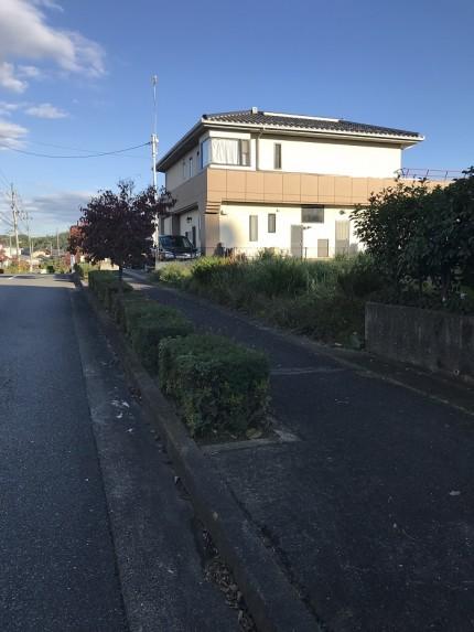 道路工事前の写真です。田村郡三春町|郡山市 新築住宅 大原工務店のブログ