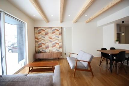 郡山市安積町モデルハウス「ライフボックス」のLDKです。| 郡山市 新築住宅 大原工務店のブログ