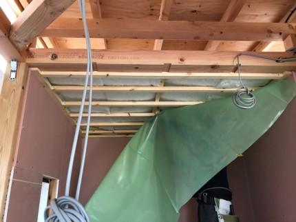 新築の気密シートの施工状況です。|郡山市 新築住宅 大原工務店のブログ