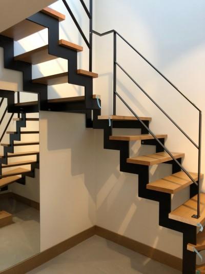 鋼製階段|郡山市 新築住宅 大原工務店のブログ