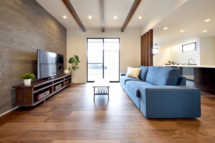 モデルハウス「シンフォニー」のリビングルームです。| 郡山市 新築住宅 大原工務店のブログ