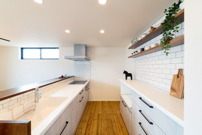 モデルハウス「ライフボックス」のキッチンです。| 郡山市 新築住宅 大原工務店のブログ