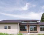高窓から心地よい光を取り込むワンフロア空間~外観~|郡山市 注文住宅 大原工務店の 施工例