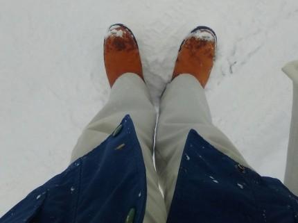 大雪で足がビショビショになりました。