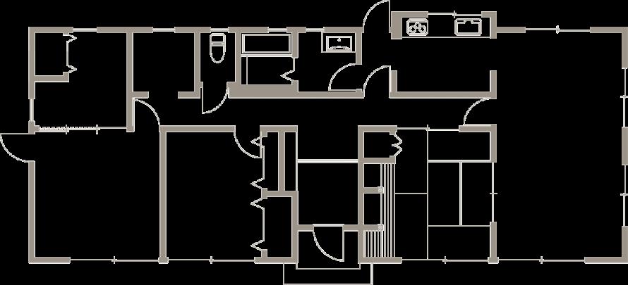 モダンな佇まい 平屋ならではのこだわりが満載-間取り-|郡山市 注文住宅 大原工務店の施工例