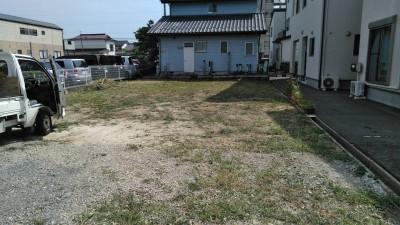 I様邸草刈りをした後の状態です。郡山市昭和|郡山市 新築住宅 大原工務店のブログ