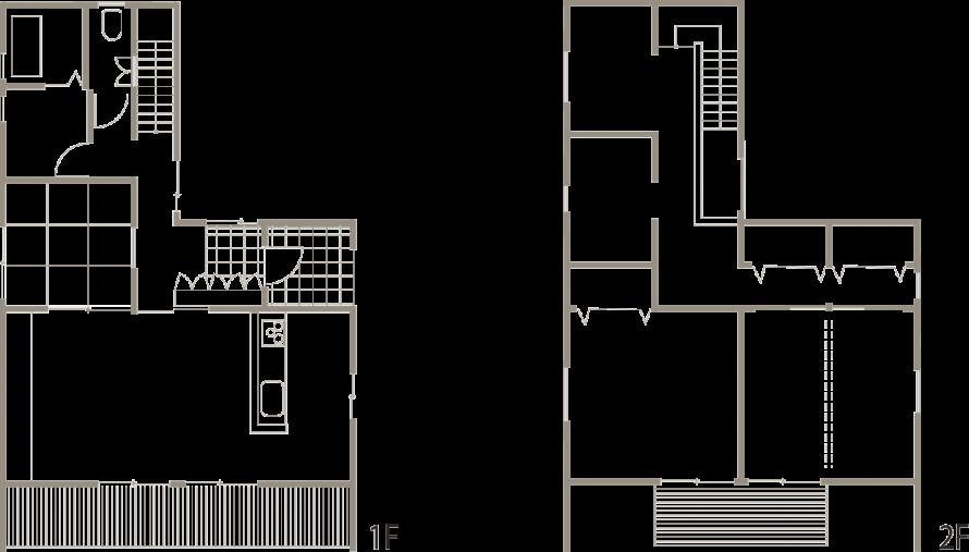 際立った外観を持ちながら、シンプルで美しい家-間取り-|郡山市 注文住宅 大原工務店の施工例