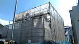 大原マークが目立っている足場シートです。郡山市昭和| 郡山市 新築住宅 大原工務店のブログ