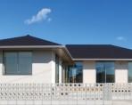 生活動線に配慮した回遊性のある平屋建寄棟の家-外観- 郡山市 注文住宅 大原工務店 施工例