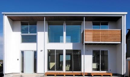敷地のロケーションから間取りと窓の構成を決定する家-外観-|郡山市 注文住宅 大原工務店 施工例