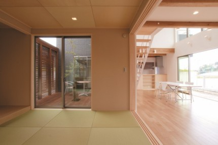 吹抜け+中庭で光と風を取り込むコートハウス和室|郡山市 工務店 大原工務店のイベント