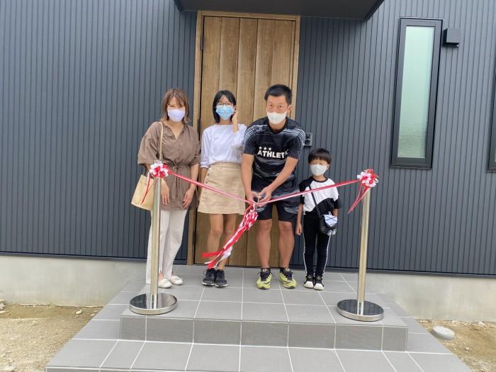 新築注文住宅K様邸、テープカットの様子です。須賀川市仁井田| 郡山市 新築住宅 大原工務店のブログ