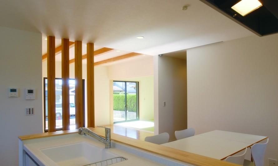 20代からの家づくり 今時のベーシックスタイル新築-リビング-|郡山市 注文住宅 大原工務店の施工例
