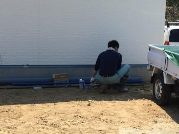 漆喰塗装完了、工事終了までもう少し!! 郡山市富田町 新築住宅 I様邸