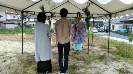 施主様がそろったら地鎮祭が始まります。郡山市田村町|郡山市 新築住宅 大原工務店のブログ