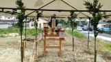 地鎮祭にて、祭壇の様子です。郡山市田村町|郡山市 新築住宅 大原工務店のブログ