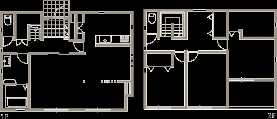 ナチュラルで暖かみのある、外観・内装を白で統一した新築-間取り-|郡山市 注文住宅 大原工務店の施工例