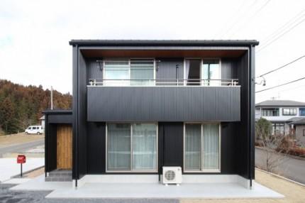 正面から見たS様邸外観です。須賀川市|郡山市 新築住宅 大原工務店のブログ