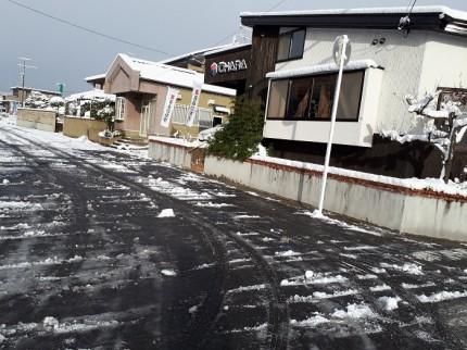 大原工務店前の道路を雪かきしました。郡山市安積町|郡山市 新築住宅 大原工務店のブログ