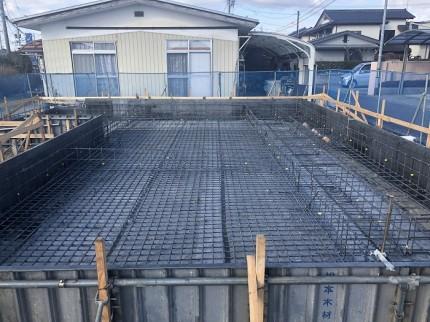 基礎コンクリートを打設する前の段階です。郡山市大槻町|郡山市 新築住宅 大原工務店のブログ