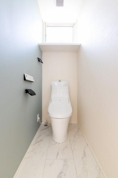 アクセントクロスがお洒落なA様邸のトイレです!| 郡山市 新築住宅 大原工務店のブログ