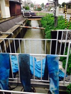 阿武隈川合流安積町用水路H27.9.10台風
