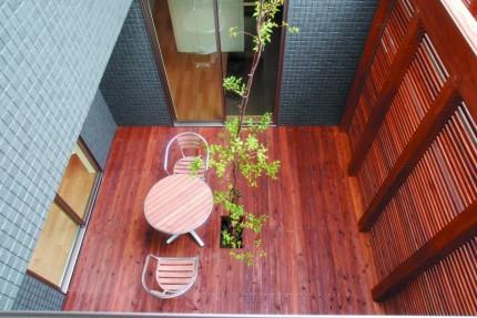 吹抜け+中庭で光と風を取り込むコートハウス中庭|郡山市 工務店 大原工務店のイベント