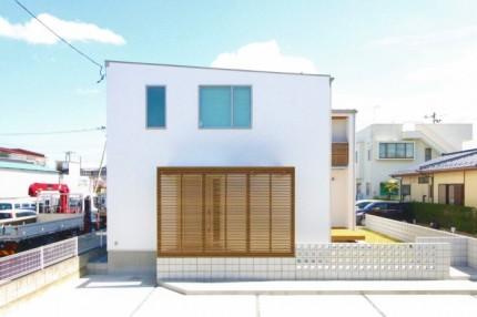 ルーバーのある箱型住宅 郡山市 新築住宅 大原工務店のブログ