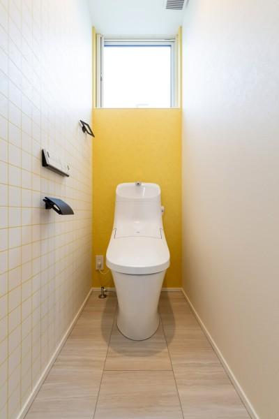 2つのアクセントクロスを使用したトイレです!| 郡山市 新築住宅 大原工務店のブログ