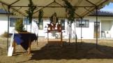 祭壇を準備したら、地鎮祭が始まります。田村郡三春町|郡山市 新築住宅 大原工務店のブログ