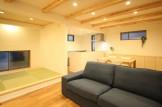 郡山市モデルハウス「中庭のある平屋」リビング|郡山市 新築住宅 大原工務店のブログ