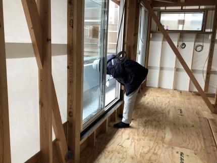 透湿防水シートの施工チェックしております。郡山市亀田|郡山市 新築住宅 大原工務店のブログ