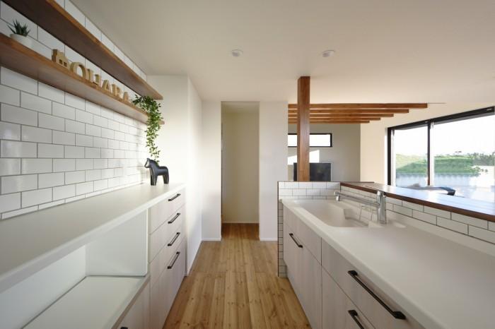 郡山市安積町モデルハウス  郡山市 新築住宅 大原工務店のブログ ライフボックスのキッチンです