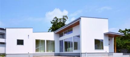 キューブ型の平家 施工例です。郡山市安積町  郡山市 新築住宅 大原工務店のブログ