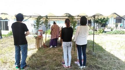 地鎮祭の様子です。福島県会津若松市|郡山市 新築住宅 大原工務店のブログ