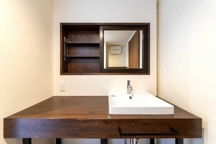 造作の洗面台です!| 郡山市 新築住宅 大原工務店のブログ