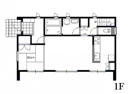 1階 見取り図|郡山市 デザイン住宅 大原工務店の商品ラインナップ
