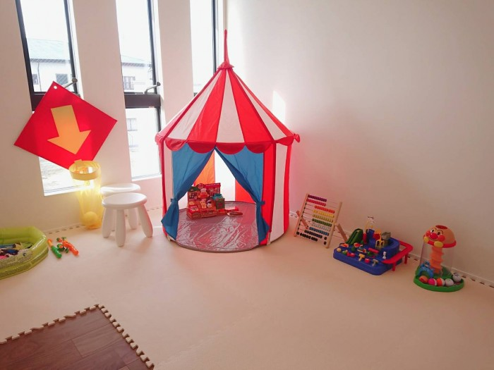 モデルハウスにはキッズスペースもあります!| 郡山市 新築住宅 大原工務店のブログ
