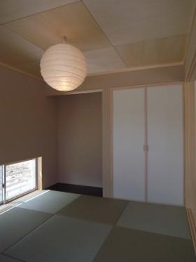 バランスとディテールを整えたシンプルで美しい住まい-和室-|郡山市 注文住宅 大原工務店の施工例