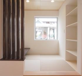 箱型自由設計 機能性とデザイン性が融合した住まい-畳コーナー-|郡山市 注文住宅 大原工務店の施工例