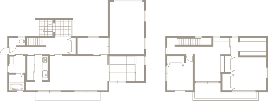 シックでモダンな佇まい、上品な色合いの安らぎの家-間取り-|郡山市 注文住宅 大原工務店の施工例