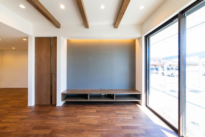 お客様邸のリビングです。| 郡山市 新築住宅 大原工務店のブログ