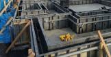 ベースコン打設後に、立ち上がり打設するために鋼製枠で囲みます。郡山市小原田|郡山市 新築住宅 大原工務店のブログ