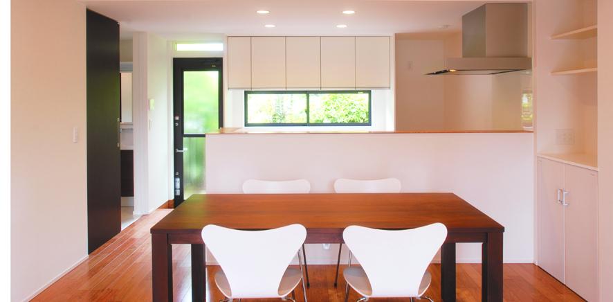 平屋造りの長所を生かし新しい形を提案する-キッチン-|郡山市 注文住宅 大原工務店の施工例